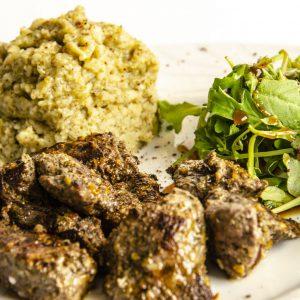 Lahem Mechwi à la mélasse de dattes ou de caroube