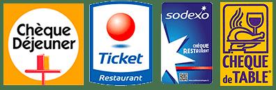 Chèques restaurant acceptés
