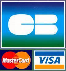 Cartes bleues Visa et Mastercard acceptées